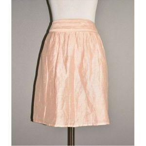 LOFT Linen Blend Full Mini Skirt